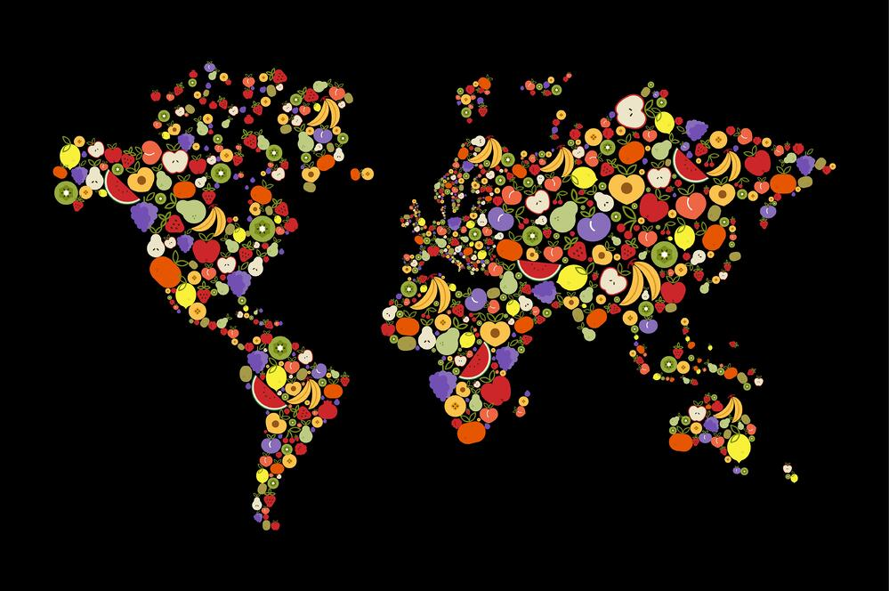 the world food map